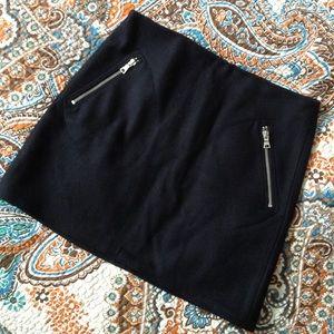 GAP midnight navy wool mini skirt 2 4